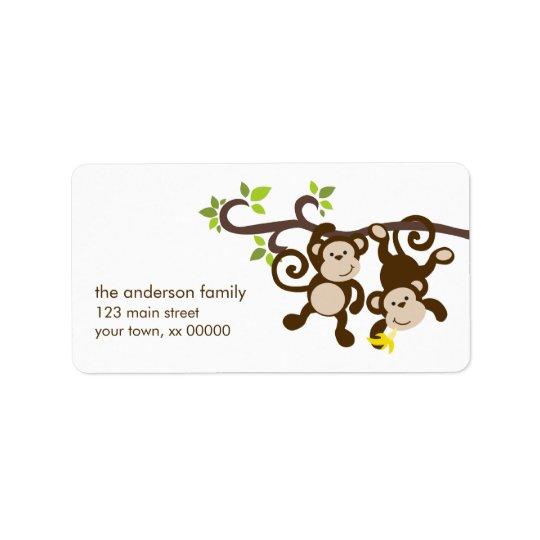 Cute Monkeys Label