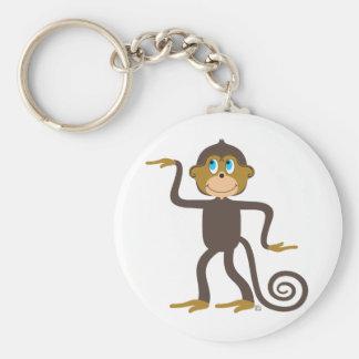 Cute monkeys pattern, boys, girls, personalized keychain