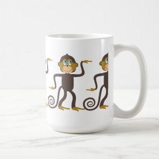 Cute monkeys pattern, boys, girls, personalized mug