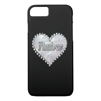 """Cute MONOGRAM """"Amber"""" iPhone 7 CASE"""
