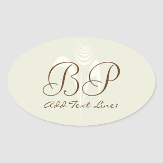 Cute Monogrammed Flower Occasion Thank You Sticker