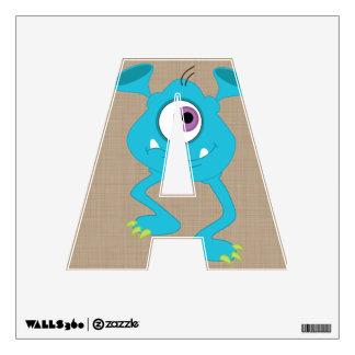 Cute Monster Alphabet Letters Nursery Decor Wall Decal