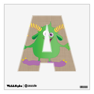 Cute Monster Alphabet Letters Nursery Decor Wall Sticker