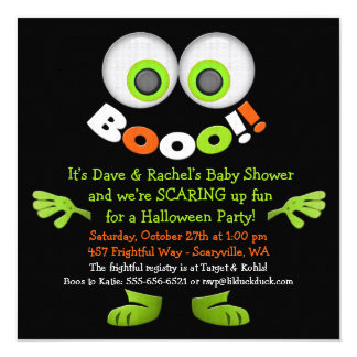 Cute Monster Baby Shower Invitations