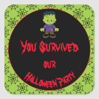 Cute Monster Boy Halloween Costume Party Square Sticker