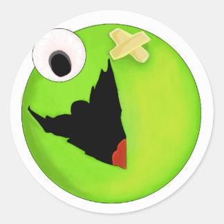 Cute Monster Round Sticker