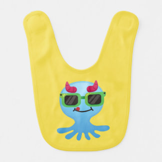 Cute Monster with Horns Bib