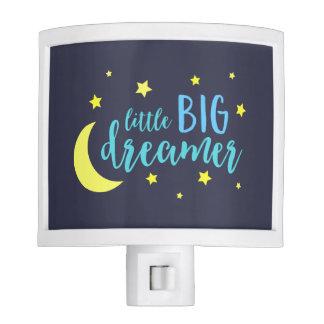Cute Moon and Stars Blue Little Big Dreamer Nite Lites