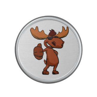 Cute moose cartoon waving. bluetooth speaker