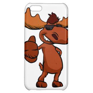 Cute moose cartoon waving. cover for iPhone 5C