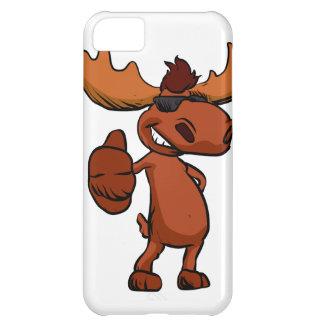 Cute moose cartoon waving. iPhone 5C cover