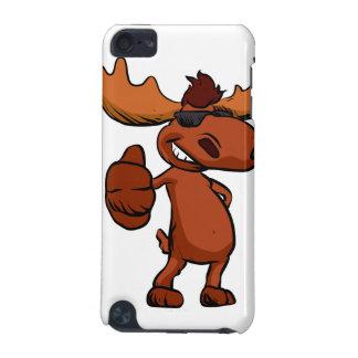 Cute moose cartoon waving. iPod touch 5G covers