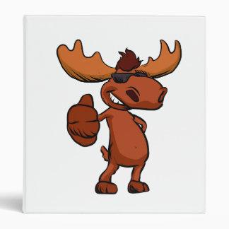 Cute moose cartoon waving. vinyl binders