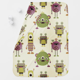 Cute mostres themed for kids, children baby shower baby blanket