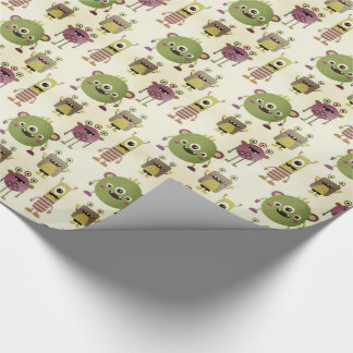 Cute mostres themed for kids, children gift decor wrapping paper