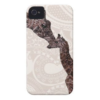 Cute mother and baby giraffe iPhone 4 Case-Mate cases