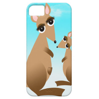 Cute mother and baby kangaroo case for the iPhone 5