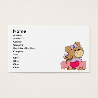 cute mothers day mom teddy bear design business card