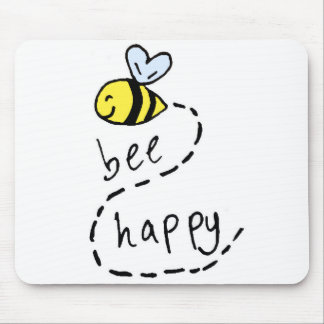 Cute Motivational Bee Mousepad