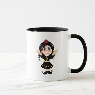 Cute mountain girl mug