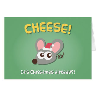 Cute Mouse Cheese Its Christmas Pun Greeting Card