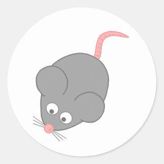 Cute Mouse Classic Round Sticker