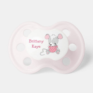 Cute Mouse Girls Personalized Pacifier