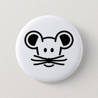 Cute mouse head face 2 inch round button
