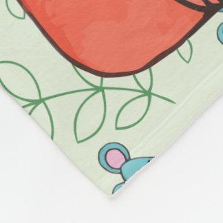 Cute Mouse Loves Kitty Cat Fleece Blanket