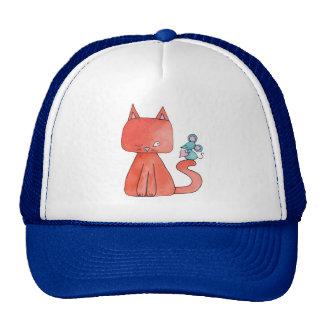 Cute Mouse Loves Kitty Cat Trucker Hat