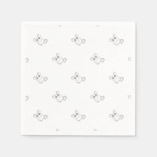Cute Mouse Paper Napkins