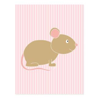 Cute mouse. postcard
