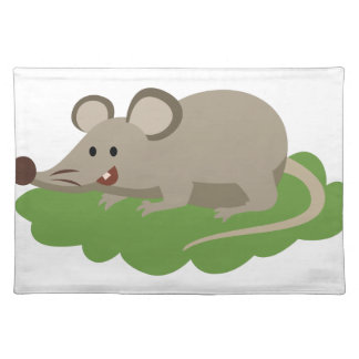 cute mouse rat placemat