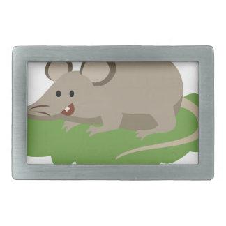 cute mouse rat rectangular belt buckle