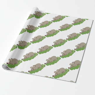 cute mouse rat wrapping paper