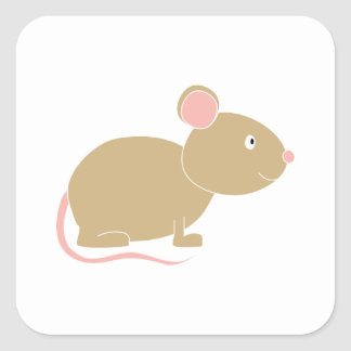 Cute Mouse. Square Sticker