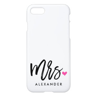Cute Mrs. (NAME) iPhone 8/7 Case