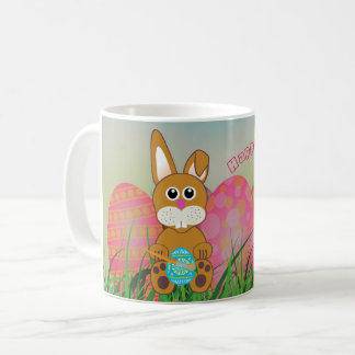 Cute Mug for Kids, Bunny and Easter Eggs