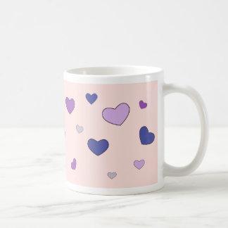 Cute mug with hearts
