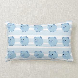 Cute Mulitple Blue Chubby Pigs Pillow