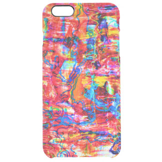 Cute multi colors abstract waves painting clear iPhone 6 plus case