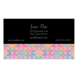 Cute Multicolored Squares Fancy Pattern Pack Of Standard Business Cards