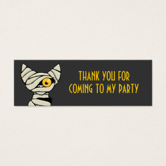 Cute Mummy Cat Thank You Party Favour Cards
