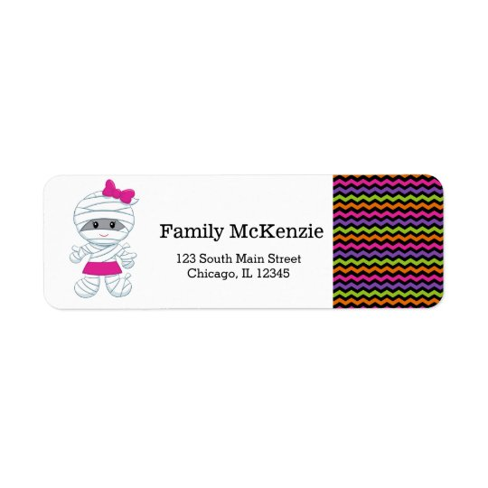 Cute mummy girl return address label