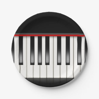 Cute Music fun party Piano paper plates