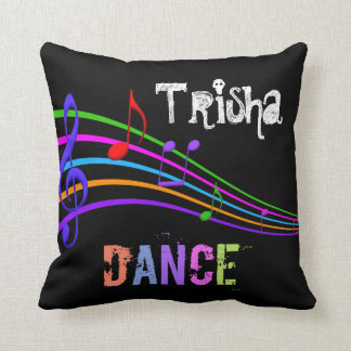 Cute Music lovers Dance noes customizabe pillow