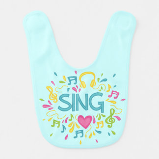 Cute Music Singer Baby Bib