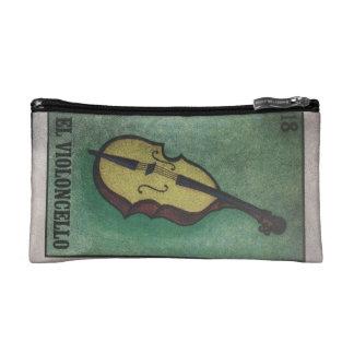 Cute Music theme zip Cosmetic Bag