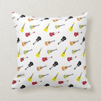 Cute Music Ukulele Patterns Throw Pillow