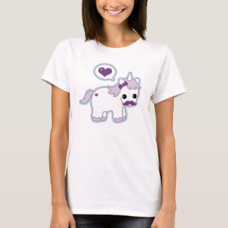 Cute Mustache Unicorn T-Shirt